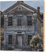 Bannack School House Wood Print