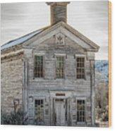 Bannack Schoolhouse And Masonic Temple Wood Print