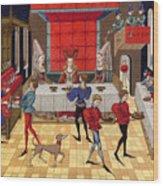 Banquet, 15th Century Wood Print