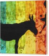 Bansky In Colors Wood Print