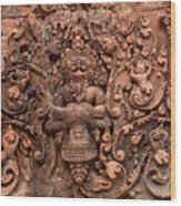 Banteay Srei Bas Relief Carvings - Cambodia Wood Print