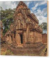 Banteay Srei Mandapa Sanctuary - Cambodia Wood Print