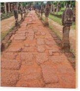 Banteay Srei Red Sandstone Road - Cambodia Wood Print