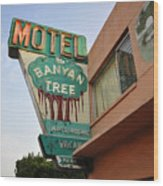 Banyan Tree Motel Wood Print