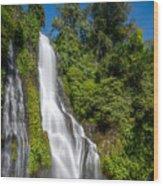 Banyumala Waterfall Wood Print