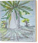 Baobab Grove Wood Print