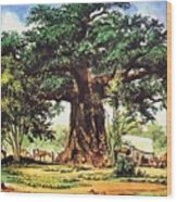 Baobab Tree - South Africa Wood Print