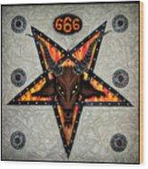 Baphomet - Satanic Pentagram - 666 Wood Print