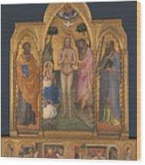 Baptism Altarpiece Wood Print