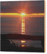 Baptism Sunrise Wood Print