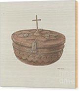 Baptismal Font Wood Print