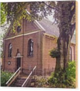Baptist Church In Giethoorn. Netherlands Wood Print