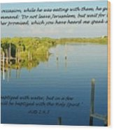 Baptized Wood Print