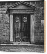 Bar Across The Door Wood Print