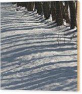 Bar Code Trees Wood Print