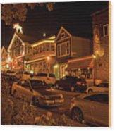 Bar Harbor Nights Wood Print