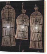 Bar Lights Wood Print