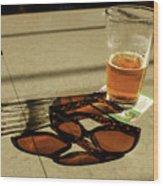 Bar Shadows Wood Print