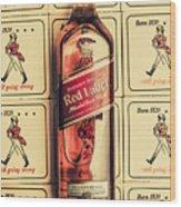 Bar Wall Art. Old Johnnie Walker Red Label Wood Print