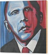 Barack Wood Print by Colin O neill
