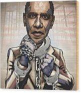 Barack Obama - Stimulate This Wood Print by Sam Kirk
