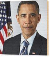 Barack Obama (1961- ) Wood Print by Granger