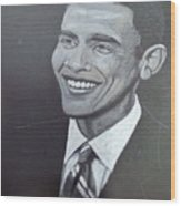 Barack Obama Wood Print