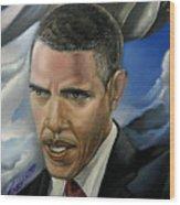 Barack Wood Print