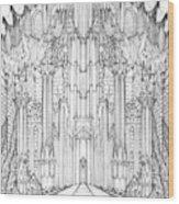 Barad-dur Gate Study Wood Print
