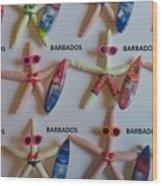 Barbados Starfish  Surfers Wood Print