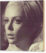 Barbara Steele, Vintage Actress Wood Print