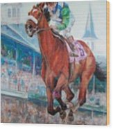 Barbaro - Horse Of The Nation Wood Print by Leisa Temple