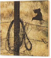 Barbed Landing Wood Print