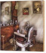 Barber - In The Barber Shop  Wood Print