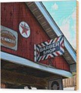 Barber - Old Barber Shop Sign Wood Print