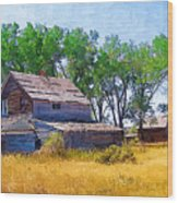 Barber Homestead Wood Print