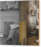 Barber - Our Family Barber 1935 - Side By Side Wood Print