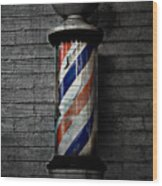 Barber Pole Blues  Wood Print