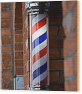 Barber Pole Wood Print