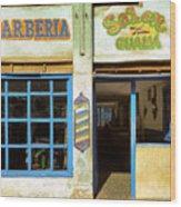 Barber Shop Wood Print