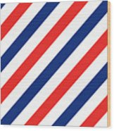 Barber Stripes Wood Print