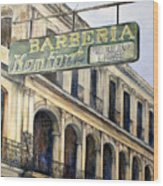 Barberia Konfort Wood Print
