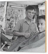Barbers 2 Wood Print