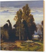 Barbizon Landscape Wood Print
