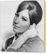 Barbra Streisand, Portrait From Funny Wood Print