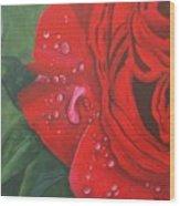 Barb's Rose Wood Print