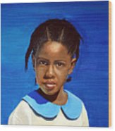 Barbuda School Girl Wood Print