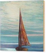 Barca Al Chiar Di Luna Wood Print