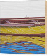 Barca Amarilla Wood Print