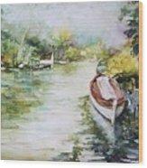 Barcas En La Albufera II Wood Print